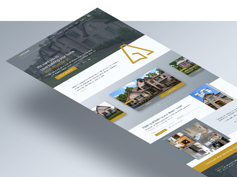 Artisan Custom Homes Website layout ui ux web design website branding real estate house homepage landing page design icon
