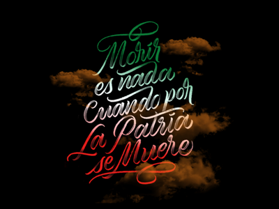 Mexico independence brustype heros calligraphy independence mexico type lettering
