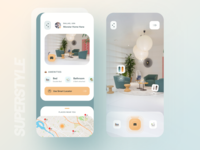 SuperStyle : Real Estate 👷🏻♂️🏢🏡 augmented reality virtual reality vr 3d real estate agency home business realestate superui superstyle typography bold wstyle ios mobile app app inspiration design ux ui