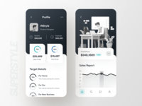 Selling Statics minimal white black pattern figma graph illustration dashboard stats payment typography bold wstyle ios mobile app app inspiration design ux ui