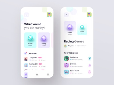 ⚡️ Live Game Streaming App icon design cinema4d 3d typography wstyle ios mobile app app inspiration design ux ui
