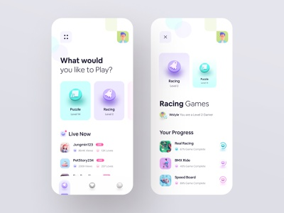 ⚡️ Live Game Streaming App icon design cinema4d 3d typography wstyle ios mobile app app inspiration design ux ui