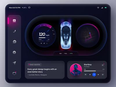 Car Dashboard Concept for BMW dashboard ui car dashboard wstyle design app car interface car design bmw tesla car app cards skeuomorph car ui dashboard car car play ux ui