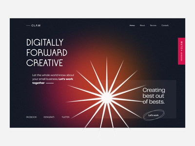 Creative Agency Website digital header exploration header landing page website creative agency design agency digital illustration digital agency claw design typography claw studio claw claw interactive inspiration ui ux design