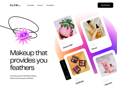 Makeup Products by Claw Shop shopping cart claw studio mobile app app inspiration ui ux design beauty product shopping app shopping makeup ecommerce shopify shop