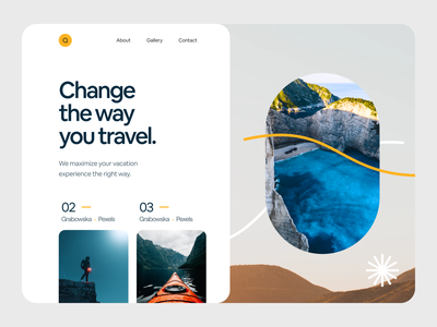 Travel Blog Header Exploration exploration explore header landingpage travel agency travel app typography travel blog travel booking illustration website claw design claw claw studio claw interactive inspiration ui ux design