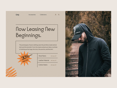 Fashion Website Header Exploration typography claw studio claw interactive ui ux header design header exploration landing page website clothing brand concept fashion brand clothing line fashion design