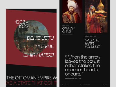 Ottoman History 2 landing page websites animation header website claw design claw interactive typography wstyle inspiration ui ux design