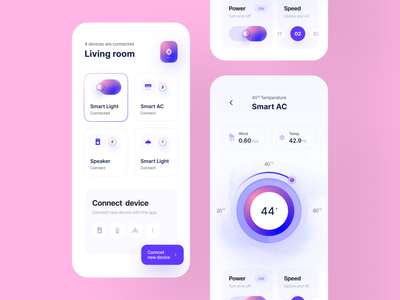 🏡📱 Smart AC homepage iot iot app ai app design home appliance smart home app smart home claw studio typography wstyle mobile app app inspiration claw interactive ui ux design