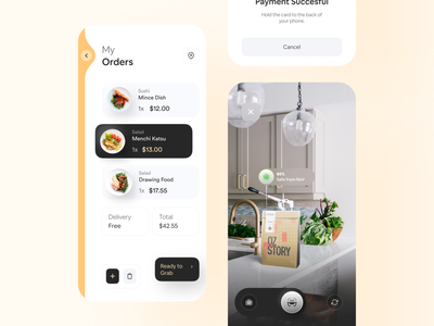 🛍 🍔 My Orders dailyui claw interactive typography wstyle mobile app delivery app app inspiration ui ux design food delivery service food delivery app