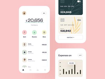 💸 Financial App money finance business wallet app app design typography wstyle claw studio mobile app app inspiration ui ux design finance app banking finance