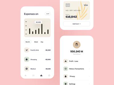 💸 Financial App bank wallet finance financial app claw claw interactive branding logo illustration wstyle mobile app ux app inspiration ui design