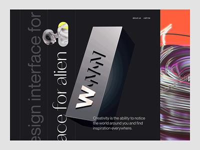 👽 We design for alien 3d branding logo illustration wstyle mobile app app inspiration ui ux design
