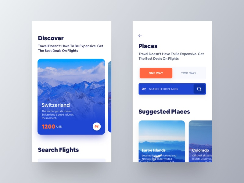 Flight Booking Conceptual App inspiration flight booking whb bold font travel app mobile app ux hiwow bold typography ui design app