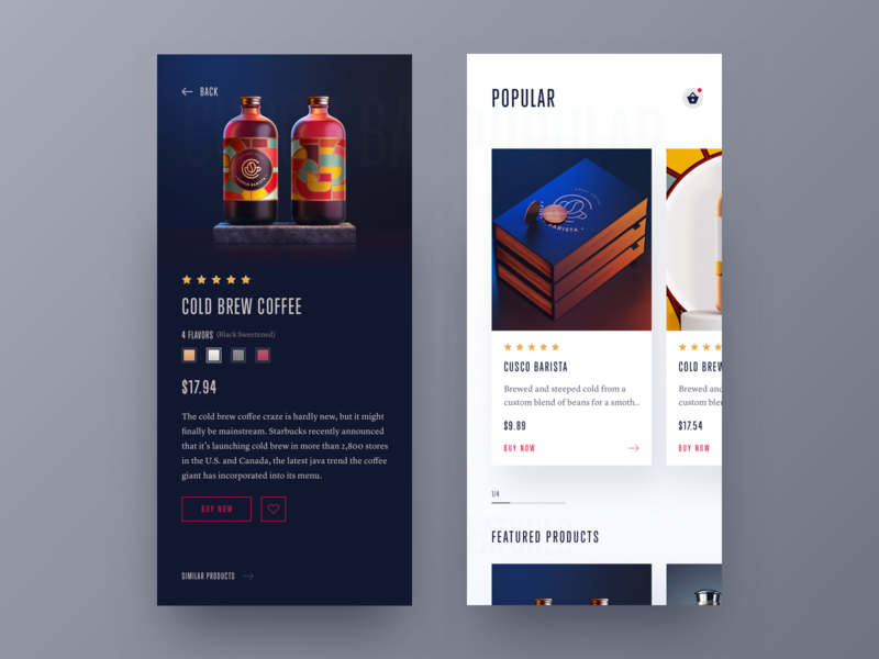Product Page | Version - 2 logo card design card ios product card product branding flat branding bold font animation whb ux ui typography mobile app hiwow inspiration bold design app