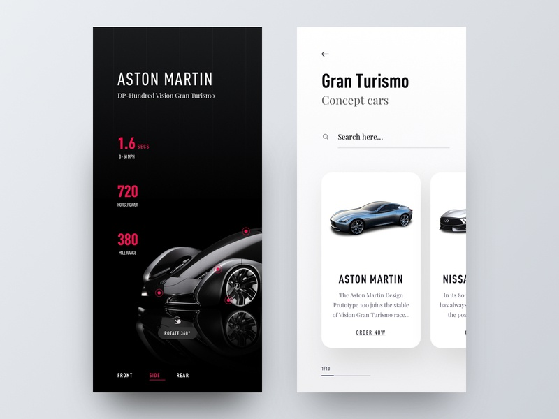 Gran Turismo - App Concept app design hiwow inspiration typography ui ux whb mobile app automotive app concept app ui design ios minimalist clean clean app design