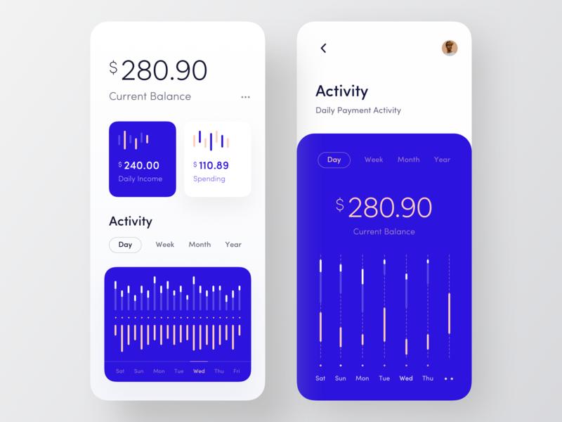 Finance App - Part 1 orizon finance business finance app wallet app marketing finance banking wstyle flat bold font mobile app ios app inspiration ux design ui