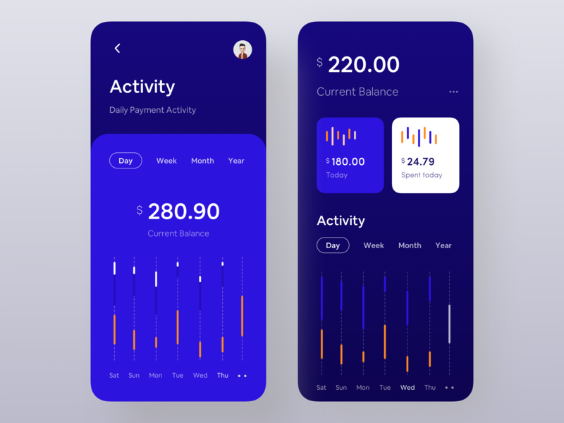 Dark Version of Finance App - Part 2 dark design dark app ui design ux inspiration app ios mobile app bold font flat wstyle banking finance marketing wallet app finance app finance business orizon