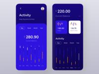 Dark Version of Finance App.