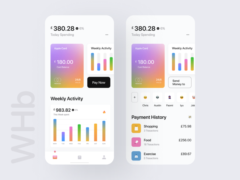 Apple Card Wallet 🔥🔥 ui8 new trend colorful trend apple card bold typography wstyle whb mobile app app inspiration design ux ui