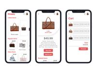Women's Bag Mobile App For E-commerce