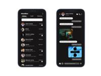 "Dark Theme ""Inbox & Chat App UI/UX Design"""