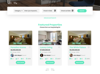 Real Estate & Hotel Landing Page search checkout checkin home buying realistic buy hotel app real estate agency real estate agent real estate landing page web uiuxdesign dribbble design ui  ux ui uidesign