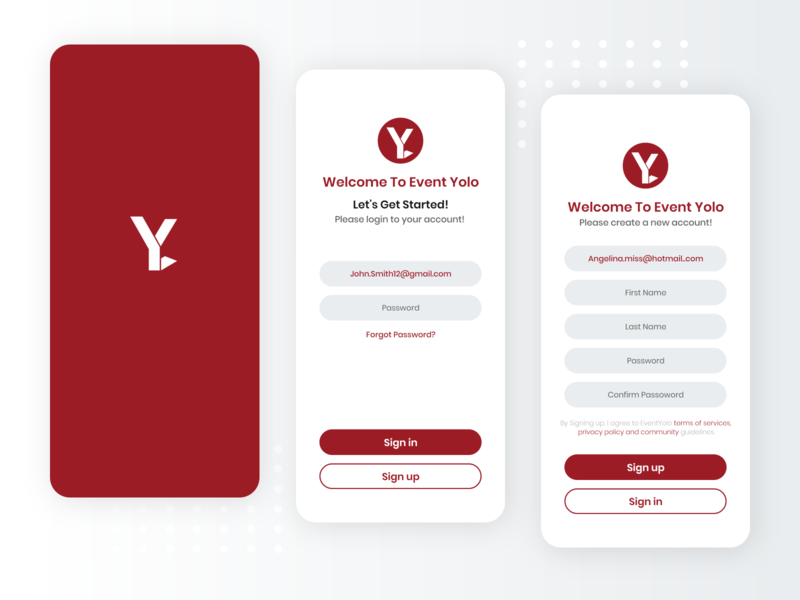 Events Ticket Booking App - Onboarding Screens splash screen sign up sign in ticket booking ticket app ticket event organization organization events event app mobileapps web ios app uiuxdesign dribbble design ui ui  ux uidesign