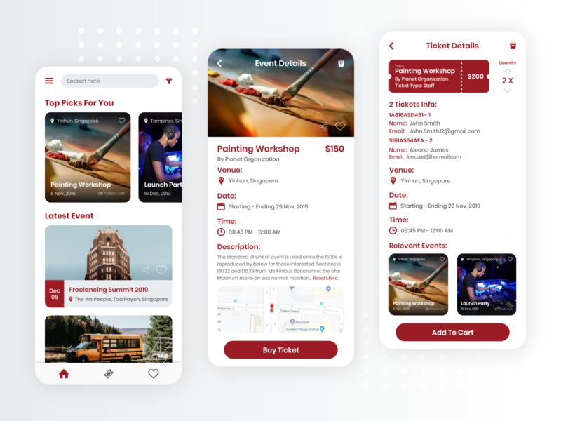 Events Ticket Booking App cart events app events booking ticket booking ticket app iphone mobileapps app uiuxdesign dribbble design ui  ux ui uidesign