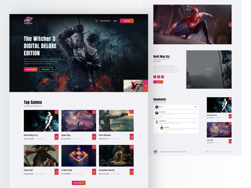 Live Gaming Steam | Real Time Game Website gaming website comments games website design live game live stream game website game design gaming game landing page web uiuxdesign dribbble design ui  ux ui uidesign dribbblers!👋