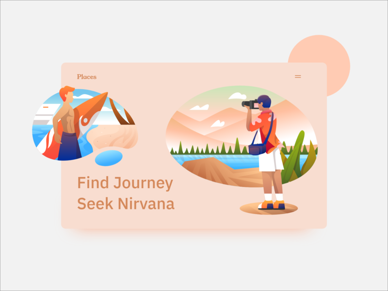 Travel Illustration Design website webpage webdesign web ux userinterface uiwebdesign uidesign ui typography minimalistic minimal layout page landing interface designer design