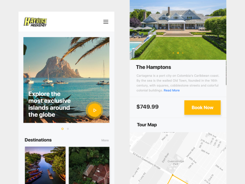 Travel Destination Booking App Design