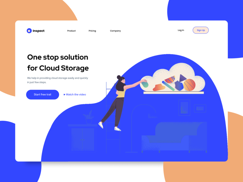 Cloud Storage Solution Web Service Website typography minimalistic minimal layout page landing interface designer ui ux userinterface uiwebdesign uidesign webdesign website webpage design web