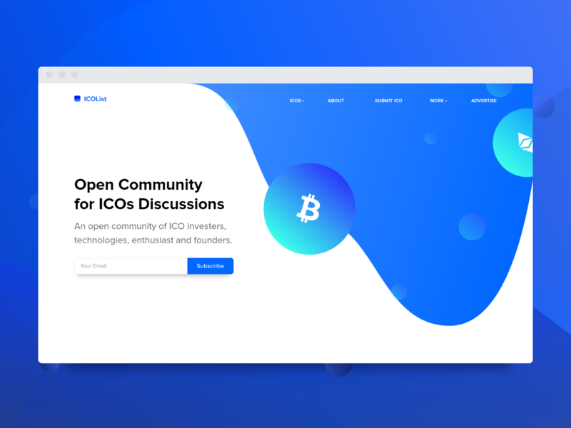Concept ICO Discussion Landing Page Design website webdesign web vector ux uidesign ui typography logo layout page landing interface illustration icon designer design branding app