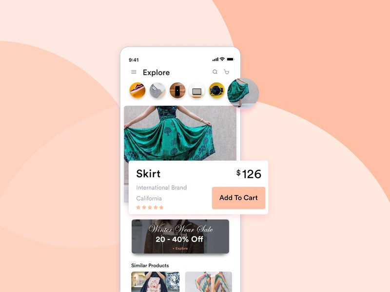Concept UI/UX Design for E-Commerce App