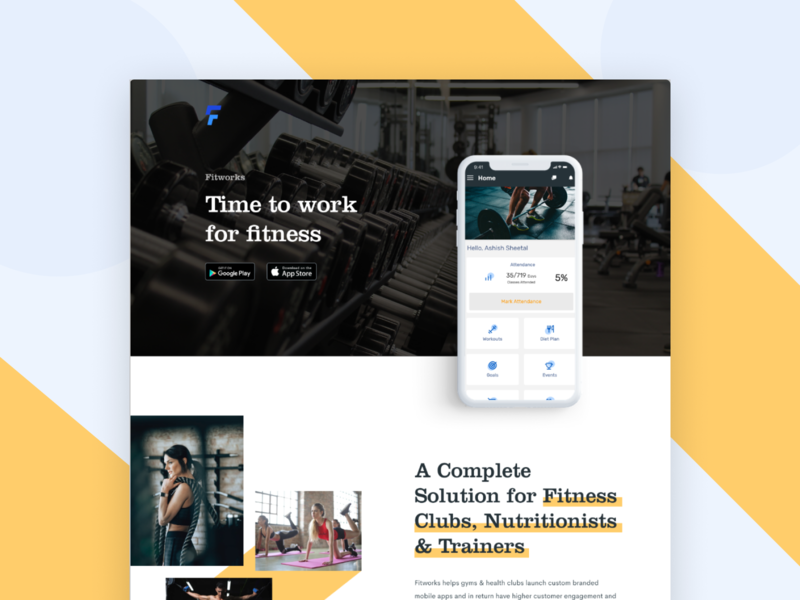 On Demand Gym App Design &  Developement website webdesign web vector ux uidesign ui typography logo layout page landing interface illustration icon designer design branding app