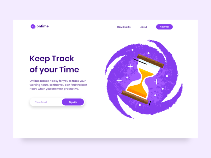 Time Tracking & Management Website UI Design website webdesign web vector ux uidesign ui typography logo layout page landing interface illustration icon designer design branding app