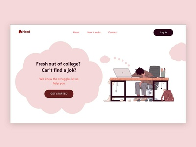 Job Portal Website UI/UX Design website webdesign web vector ux uidesign ui typography logo layout page landing interface illustration icon designer design branding app