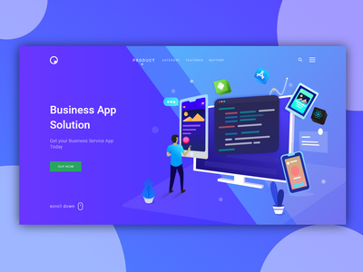 Business App Service Page Illustration Design website webdesign web vector ux uidesign ui typography logo layout page landing interface illustration icon designer design branding app