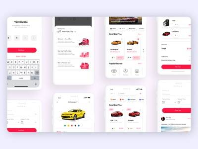 Concept UI/UX Design for Car Rental And Sales App page modern mobile ui mockup vector app concept typography art icons mobile design mobile interface uidesign app logo web typography ux ui website design