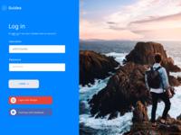 Concept Login Screen UI/UX Design