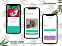 Concept App Design for Medical Cannabis Dispensary