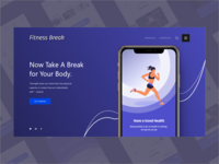 UI/UX Design Concept for Fitness Apps Webpage