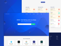 UI/UX Design for ICO Rating Website Complete View