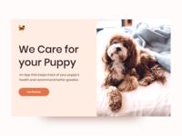 Concept UI/UX Design for Dog Care Website