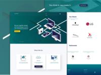 Web Design Agency Website Concept Design