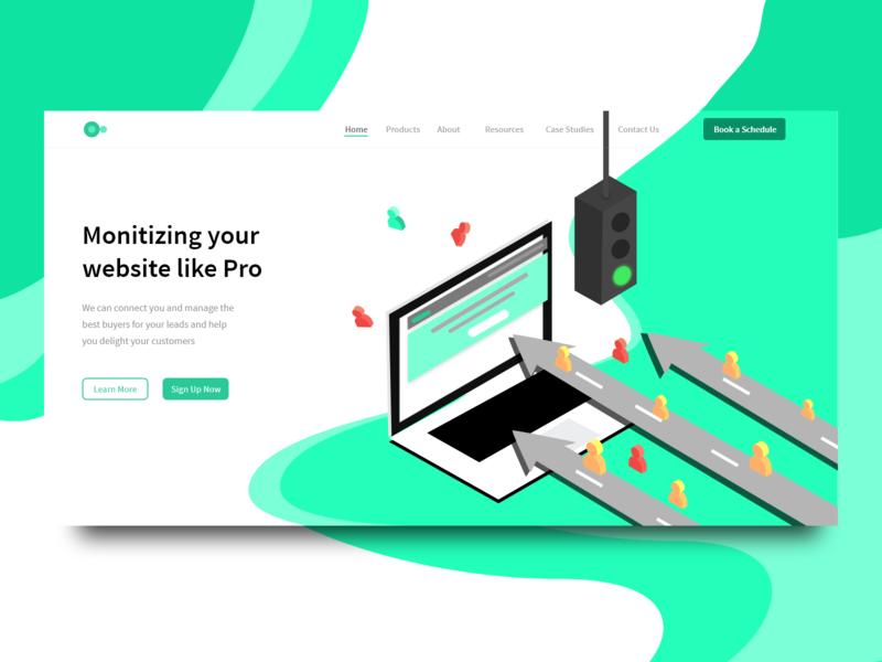 content monetization ui/ux design concept