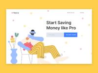 Concept ui ux design for finance website