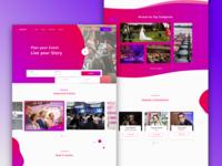 Concept Design For Event Management Company Website