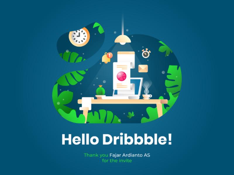 Hello dribbble! first shot design illustration dribbble hello dribbble